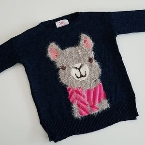 [Girl 8] Justice Llama Sweater EUC